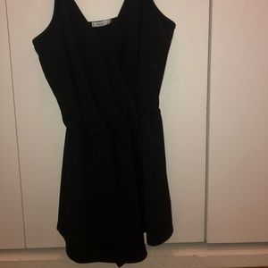 Black cross romper